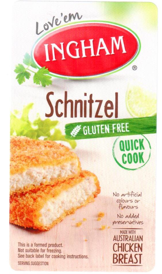 how to cook crumbed chicken schnitzel in the oven