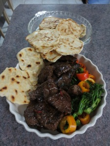 Flat Breads and Red Hot Beef