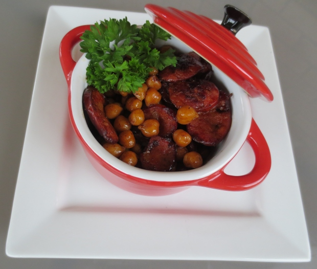 Sherry Glazed Chorizo and Chickpeas 1